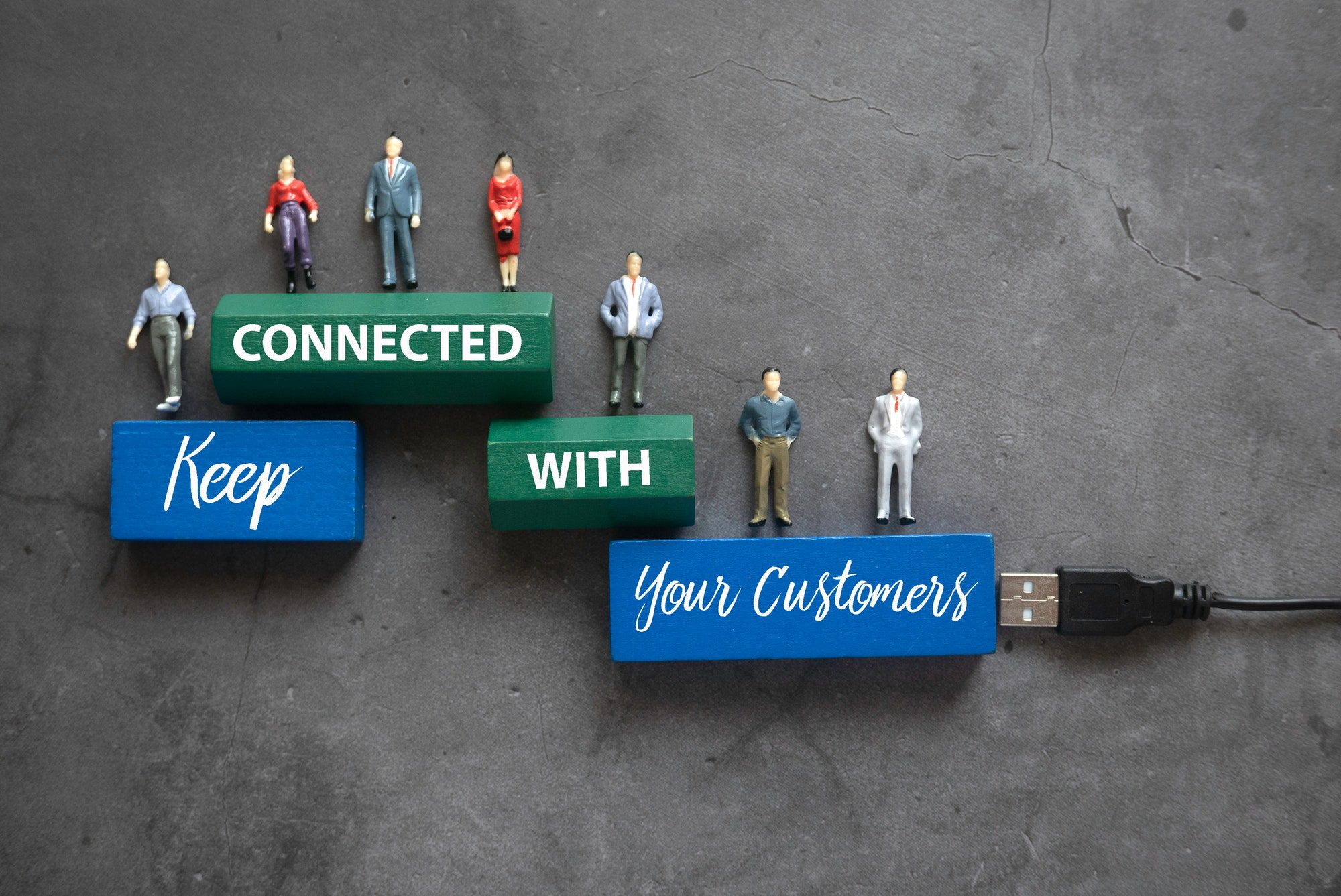 Keep Connected With Your Customer Concept